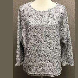 Chico's Boucle Fringe Sequin Sweater Size 8